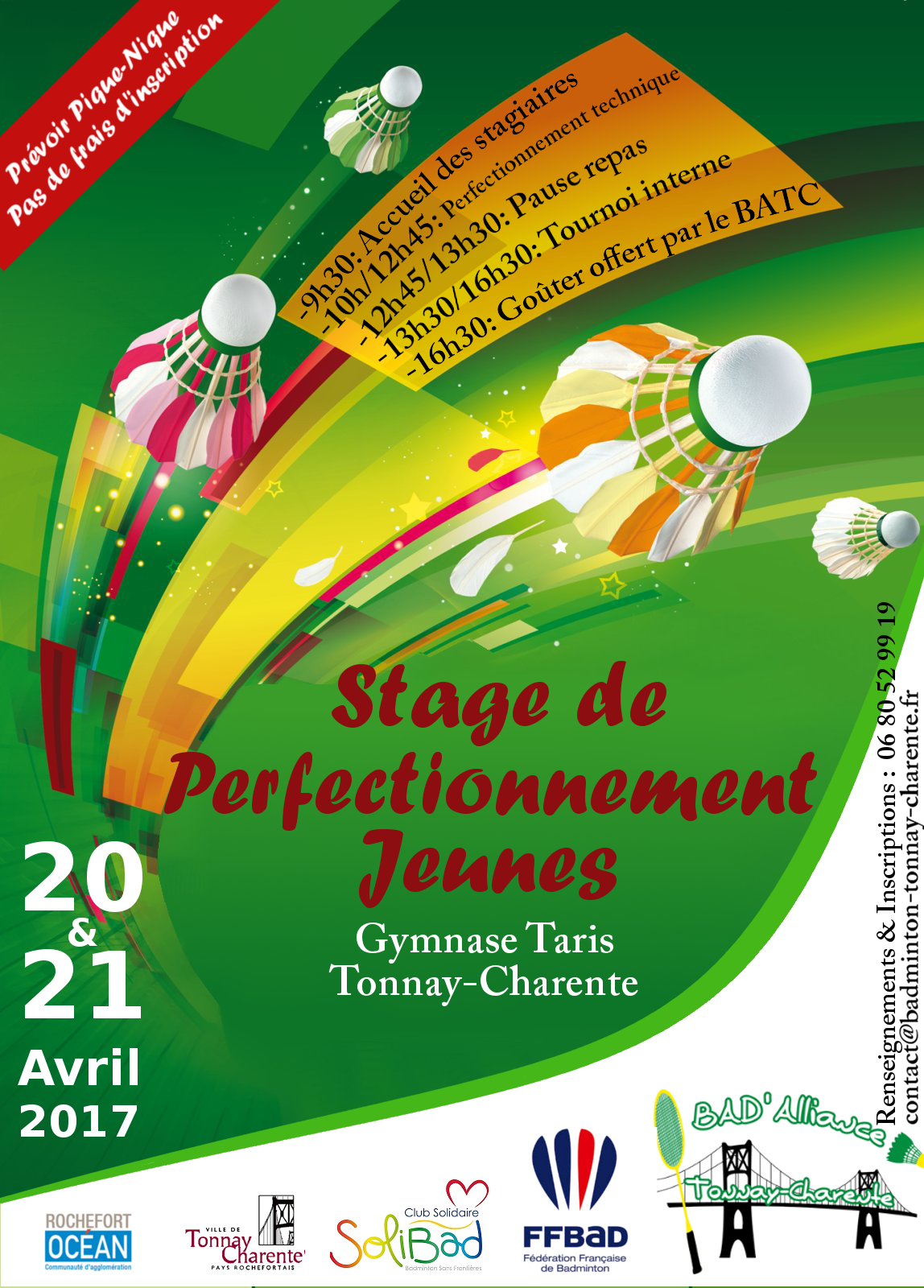 Affiche Stage Jeunes avril17