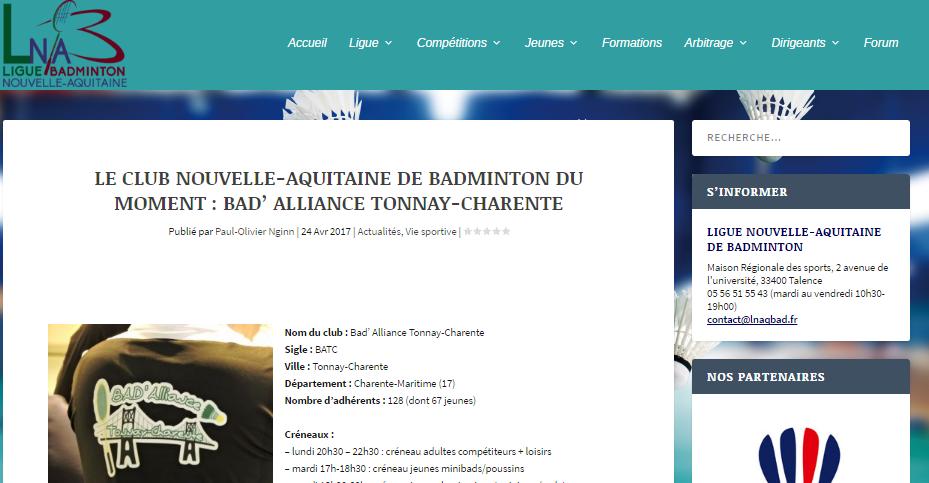 art. site Ligue avril17